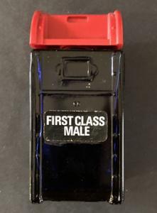 Avon First Class Male Glass Mailbox Bottle ~ Bravo Aftershave 4 FL OZ ~ Empty