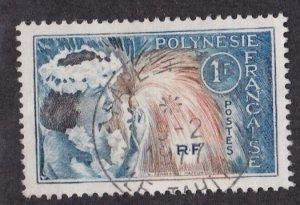 French Polynesia # 208, Tahitian Dancer, Used, 1/3 Cat.