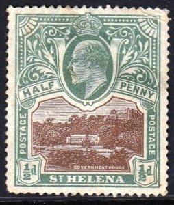 St. Helena, #50,1903, MH, crease