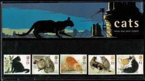 G.B.QE II 1995 CATS MINT (NH) SG1848-52 P.O. PACK 254 SUPERB