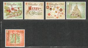 Gibraltar Sc#1414-18, 1414-1418a M/NH/VF, Set/5+Sheet, Cv. $28