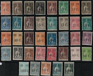 Portugal 1922-1929 SC 453-489 Mint SCV $144.00 Set