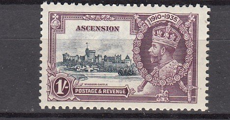 J26663 1935 ascension mnh #36 silver jubilee