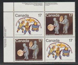 Canada 838a Inuit Community - MNH - se-tenant block
