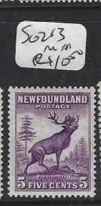 NEWFOUNDLAND   (PP1208B)  5C CARIBOU SG 213    MNH