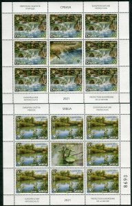 1629 - SERBIA 2021 - European Nature Protection - MNH Mini Sheet
