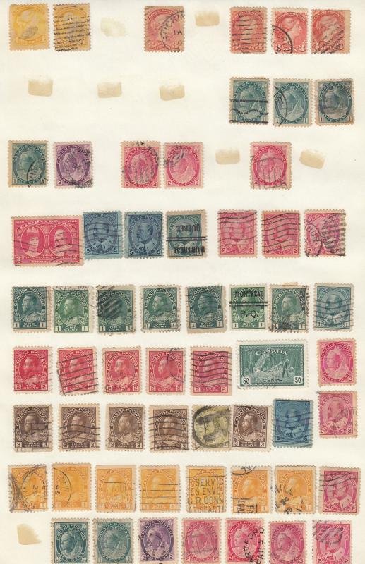 Canada - small stamp collection - (1784)
