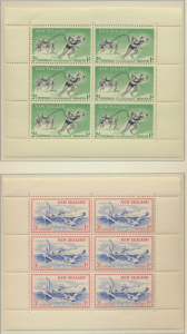 New Zealand Stamps Scott #B52a To B53a, Mint Never Hinged, Miniature Sheets -...