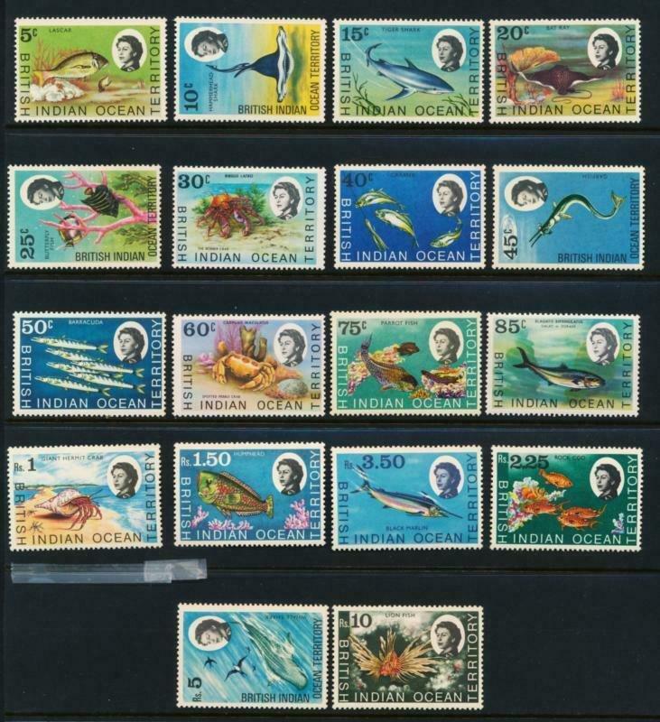 BRITISH INDIAN OCEAN TERRITORY (BIOT) 16-33 MINT LH FISH