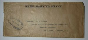 GB OHMS Registrar Generals Office Bahamas His/Hers 1953 Wax Seal Supreme Cover