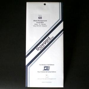Showgard Stamp Mounts Size 68 / 240 BLACK Background Pack of 10