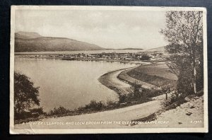1940s England RPPC Postcard Cover To London Canada View Of Ullapool & Loch