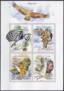 2014 Sao Tome and Principe 5599-602KL Birds of prey 10,00 €