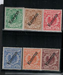Cameroun 1897 SC 1-6 Mint SVC$ 60.00 Set