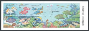 Marshall Islands #434-40 NH Reef Life - Complete Booklet ...