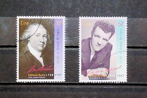 Ireland 1994 Anniversaries Edmund Burke Eamonn Andrews Used Full Set A22P20F9041