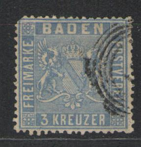 Baden 1860-62 Sc# 12 Used F/G