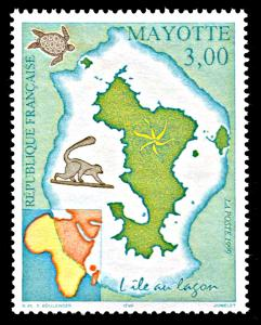 Mayotte 119, MNH, Map of Mayotte