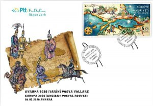 TURKEY / 2020 - (FDC) EUROPA CEPT (Historical Postal Roads), MNH