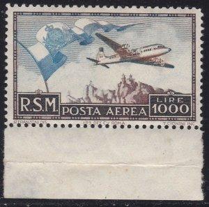 1951 San Marino, Pa N° 99, 'Big Flag' , MNH, Certificate Diena