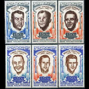 MAURITANIA 1970 - Scott# C98-103 Space Victims Set of 6 LH