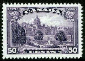 CANADA SG350, 50c dp purple, NH MINT. Cat £25.