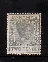 Bahamas Sc 103  1938 2 d gray G VI stamp mint