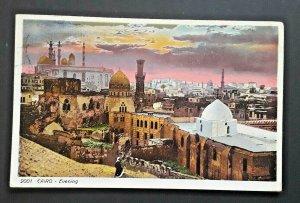 2000s Cairo Egypt To British Columbia Canada Cairo Evening Illustrated Postcard