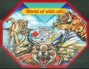 Solomon Islands MNH S/S World Of Wild Cats 2014