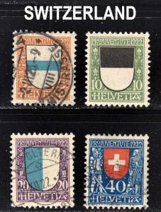 Switzerland Scott B21-24  complete set  F to VF mint & used.