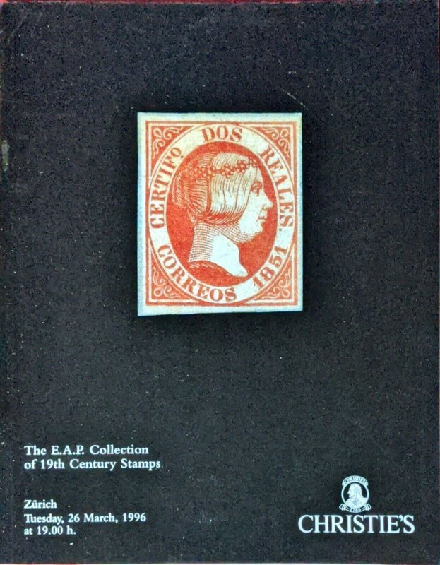 Auction Catalogue E.A.P. Collection of 19th Century Stamps