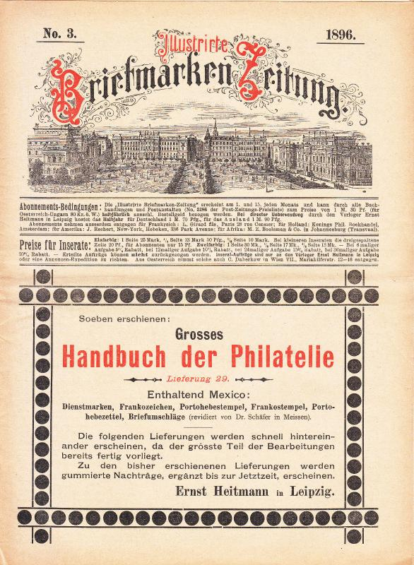 Illustrate Briefmarken Zeitung 1896 #3