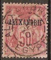 France Off Egypt Alexanderia 12 U SON w/ Alex Cds SCV $16.00