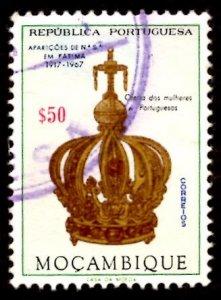 Mozambique 1967 Virgin's Crown, Virgin Mary, Fatima 50c Scott.480 Used (#2)