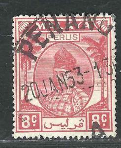 Malaya Perlis 12 SG 13 Penang Cancel 1955 SCV $7.50