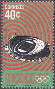 Mexico # 997 used ~ 40¢ Olympic Stadium