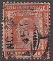 India 65 Hinged Used 1902 King Edward VII