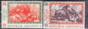 INDONESIA SC# 730-31 **MNH+USED**  1967    SEE SCAN