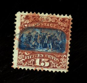 US #119 Used VF Red Cancel Cat$400