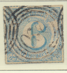 Thurn and Taxis Stamp Scott #62, Used - Free U.S. Shipping, Free Worldwide Sh...