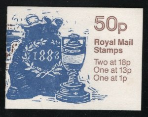 Great Britain 1987 50p Ashes Urn booklet SG# FB40 NH
