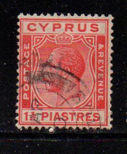 Cyprus Sc 96 1925 1 1/2 carmine piastres George V stamp used