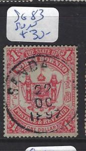NORTH BORNEO (P2609B)    $1.00  SG 83  SANDAKAN CDS   VFU   SON