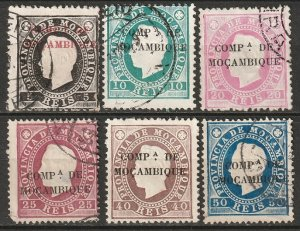 Mozambique Company 1892 Sc 1-6 partial set most used