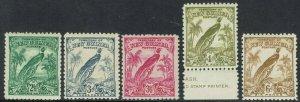 NEW GUINEA 1932 UNDATED BIRD RANGE TO 6D
