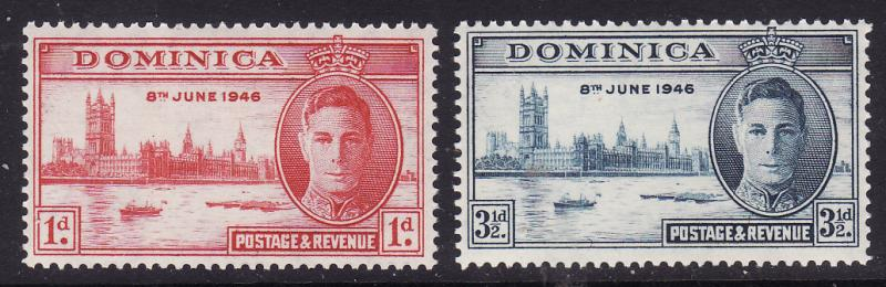 Dominica #112-13 F-VF Mint NH ** Peace Issue