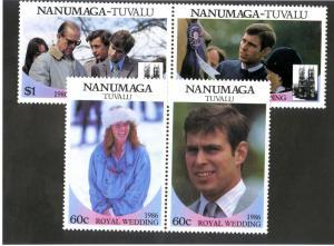 TUVALU NANUMAGA 71-2 MNH SCV $3.00 BIN $2.00 ROYALTY