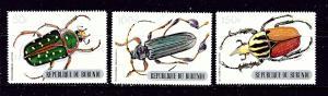 Burundi 319-21 MNH 1970 Beetles partial set