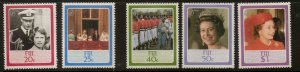 FIJI SG714/8 1986 60th BIRTHDAY OF QUEEN ELIZABETH II MNH