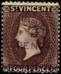 St Vincent SC# 58 Victoria 5p on 4p MH